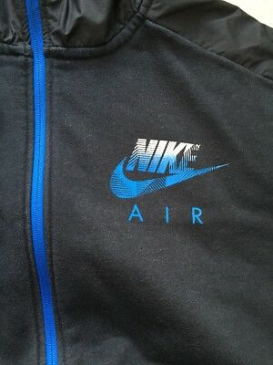 SWEAT À CAPUCHE HOODIE Nike Air Xxxl 3Xl Coton k-Way Bleu Marine ... 060aaaee651c