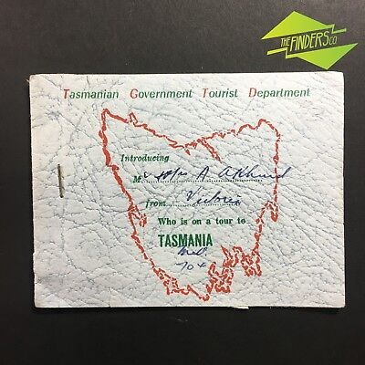 Interesting Vintage 1954 Tasmanian Government Tour Pass Green Coach Lines Ticket