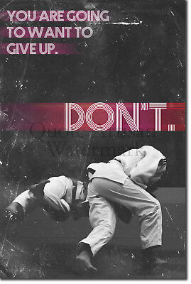"Judo Motivational Poster 03 ""DON'T give up."" Photo Art Print Motivation Quote"