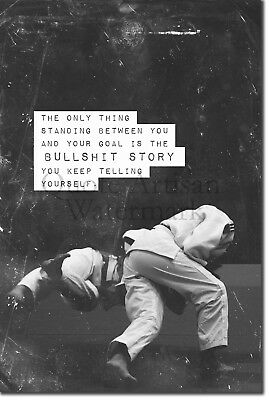 "Judo Motivational Poster 08 ""Bullsh*t story..."" Art Print Motivation Quote Gift"