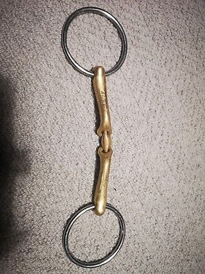 """Neue Schule Verbindend Loose Ring Lozenge Snaffle Bit 6.25"""" Inches"""