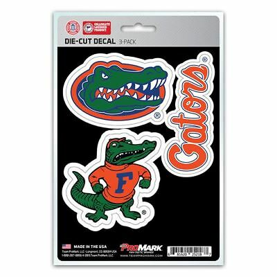 Florida Gators Stickers Die-Cut Decal Auto Stickers 3-Pack