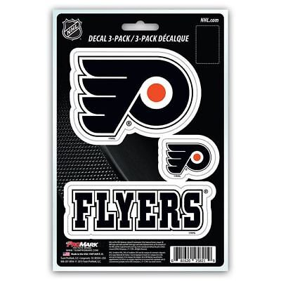 Philadelphia Flyers Stickers Die-Cut Decal Auto Stickers 3-Pack