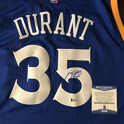 online store f2910 33980 KEVIN DURANT SIGNED Warriors Crossover Authentic Swingman Jersey BAS  Beckett COA