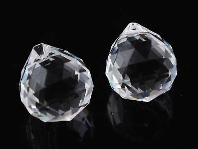 33x30mm Faceted Crystal Glass Ball Lamp Prism Chandelier Jewelry Pendant
