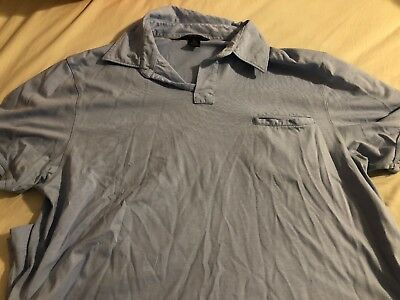 Banana Republic Mens Fitted Pima Polo Shirt Short Sleeve Pocket Size XL