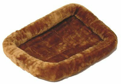 MidWest Deluxe Bolster Pet Bed for Dogs & Cats Cinnamon Plush
