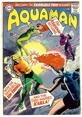 Aquaman #24 (DC 1965, fn-vf 7.0) guide value in this grade: $32.50 (£28.00)