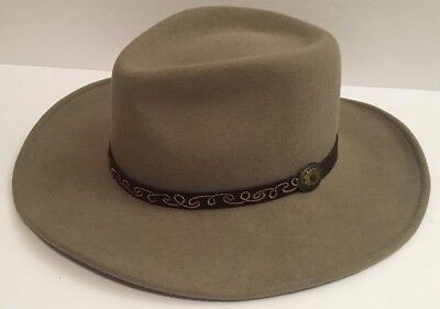 Bailey Morgan Men's Size Medium Wool Lite Felt Grey Cowboy Hat Packable Fashion