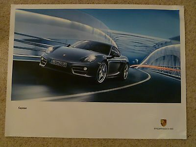 Awesome L@@K 2017 Porsche Cayman S Coupe Showroom Advertising Sales Poster RARE