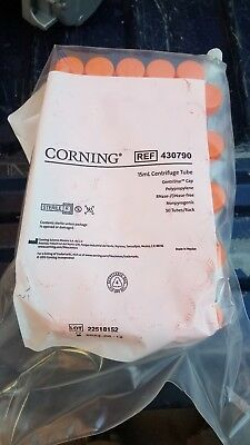 CORNING 430790 15mL Sterile Conical Centrifuge Tubes CentriStar 50pack #A1011 LW