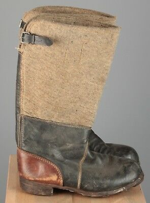 Vtg Men's WWII German Eastern Front Boots sz 44 10 1940s 40s WW2 Shoes 5450s