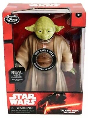 "DISNEY STAR WARS 10"" YODA w/LIGHTSABER TALKING FIGURE LIGHT SOUND EFFECTS TOY"