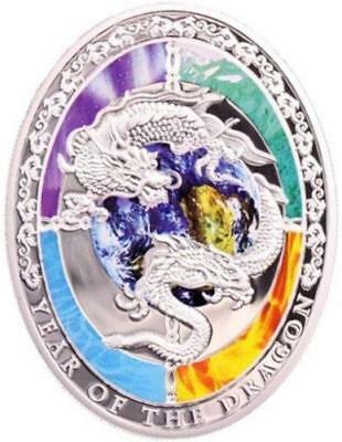"""Niue 2012 1$ YEAR OF THE DRAGON """"Chinese Dragon"""" 1 Oz Silver Proof coin"""
