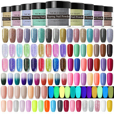 NICOLE DIARY Nail Art Dipping Powder System 10g Colorful Fruit Acrylic Tips DIY