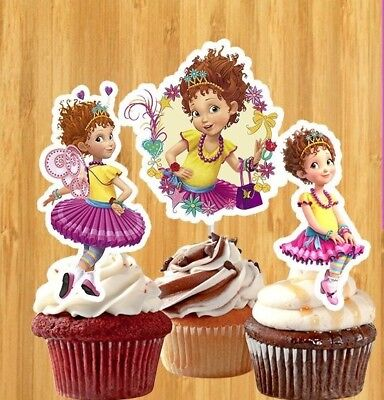 Set of 12 FANCY NANCY -  CUPCAKE PICKS Toppers Party!!!