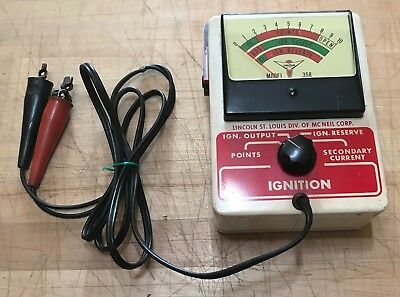 Vintage Ignition Tester Lincoln Mc Neil Model 358