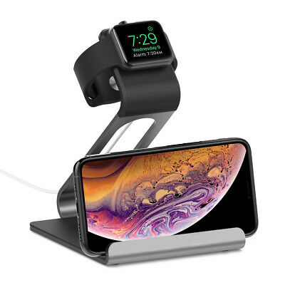 Apple Watch Series Charging Dock Stand Bracket Station Holder iPhone XS Max XR X