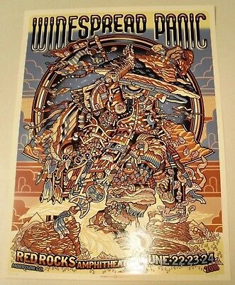 Widespread Panic Red Rocks 2018 Guy Burwell Poster Chuck Sperry Tickets Zoltron