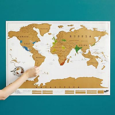 Large Size Scratch Off World Map Poster Personalized Travel Vacation Log Gift 18