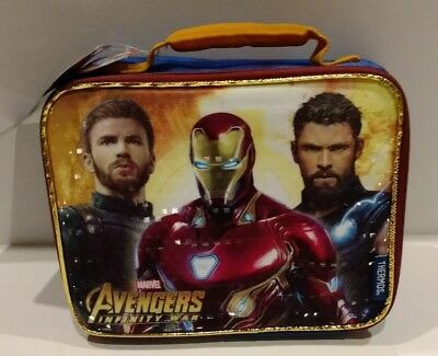 Marvel AVENGERS INFINITY WAR  THERMOS brand Insulated Lunch Box NEW  NWT