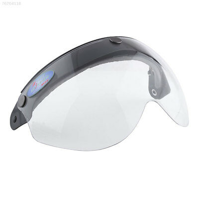 0E15 Pilot-Style Motorcycle Helmet 3-Snap Face Visor Wind Shield Down Clear