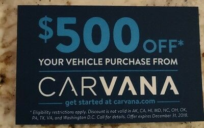 Carvana Coupon Code 500 Off Fast Expires Dec 31st