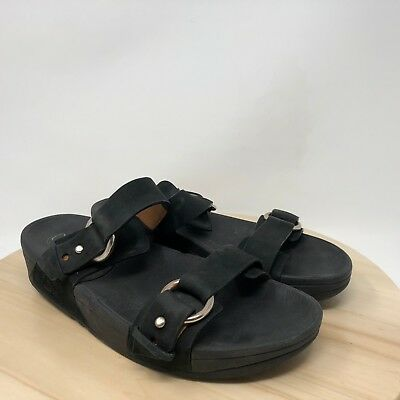 f0103c9a4681d2 FIT FLOP NUBUCK Leather Banda Thong Sandals Euro 43 US 11 -  24.95 ...