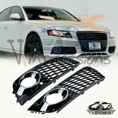 For AUDI A4 B8 2008 2009 2010 2011 2012 Mesh Fog Light Honeycomb RS4 Style Grill