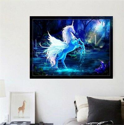 AU Super Unicorn DIY 5D Full Drill Diamond Painting Embroidery Cross Stitch LE