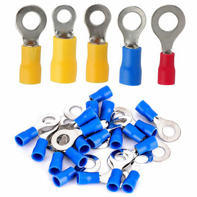 20pcs-100pcs Ring Electrical Crimp Terminals - Connector - Red Blue Yellow