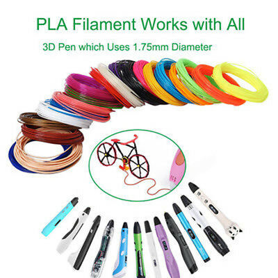 PLA 1.75mm Filament For 3D Printer Pen Refill Pack 5M Per Color With 20 10 Color
