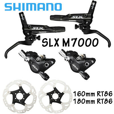 Shimano SLX M7000 Disc Brakeset 1000//1700mm w//Olive /& Connecter Inser New