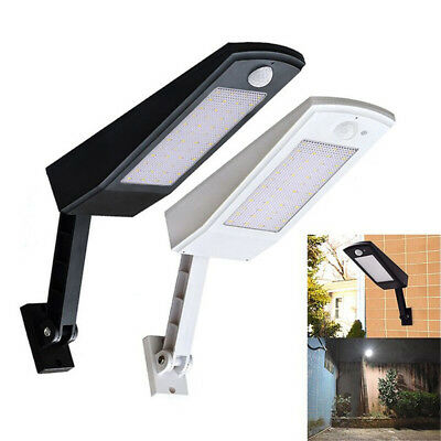 Solar Powered 48 LED Light PIR Motion Sensor Flood Street Garden Lamp Outdoor