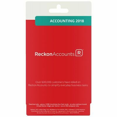 Reckon Accounts Accounting 2018 12 Months 1 PC Card