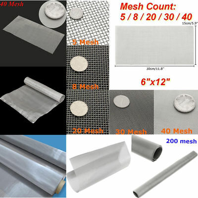 Fine Stainless Steel Woven Wire Mesh Filter Grading Sheet Grill Silk Heavy Gauze