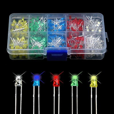500pcs 3mm  Bright LED Light Emitting Diode Component Kit for PCB Circuit