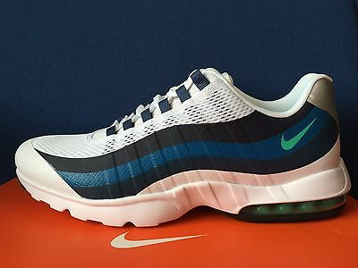 the best attitude 1c149 9fa2c New Women s Nike Air Max 95 Ultra Running Shoes 749212 100 White Blue Sz 12