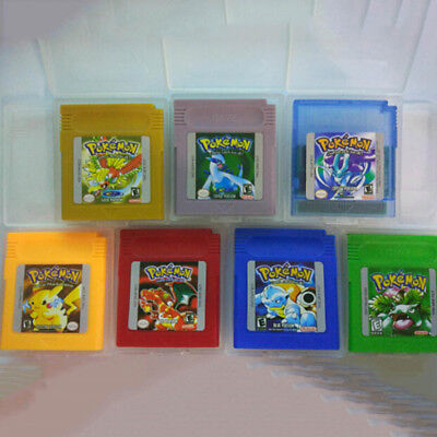 7 Pieces Game Cards Color Version Carts For Nintendo Pokemon GBC Game Boy New