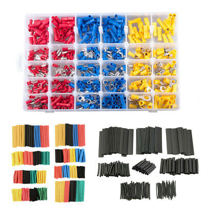 Car Wire Electrical Terminals Crimp Connectors Heat Shrink Tube Sleeving Cable