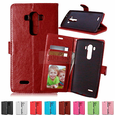 For LG G3 G4 Beat Book Card Holder Leather Wallet Flip Stand Case Cover Pouch