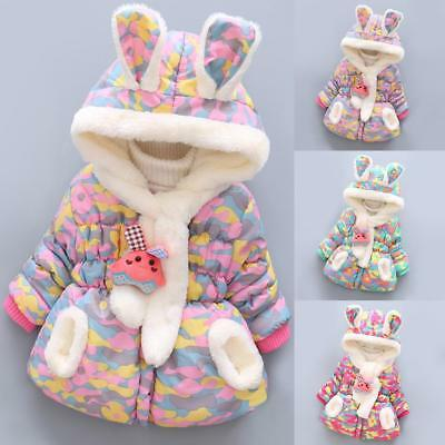 Toddler Kids Girl Baby Outerwear Camouflage Hooded Winter Warm Coat Jacket Outer