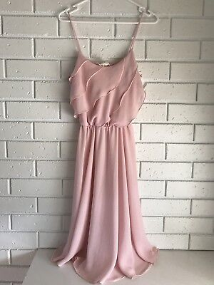 Vintage KATIES Pink Party Dress S to M cocktail Sheer