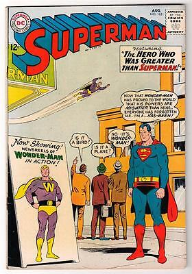 DC Comic SUPERMAN  FN+ Silver age #163 6.0 high-mid 1963 action hero