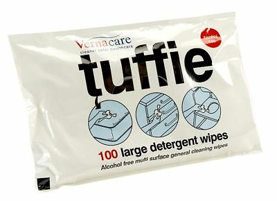 Vernacare Tuffie Detergent Wipes, Pack of 100