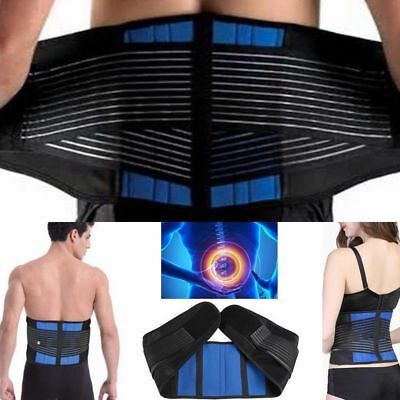 Comfort Neoprene Double Pull Lumbar Support Lower Back Belt Brace Pain Relief