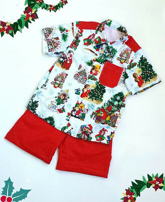 AU Stock Christmas Toddler Kid Baby Boy T Shirt Tops Short Pants Outfits Clothes