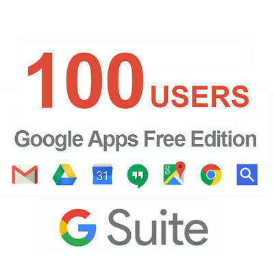 Domain name with Google Apps 100users Licenses ( G Suite Standard Edition )