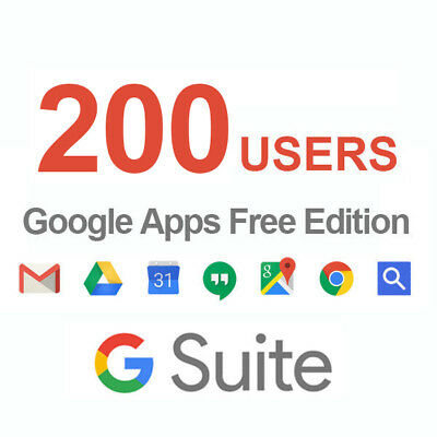 Domain name with Google Apps 200users Licenses ( G Suite Standard Edition )