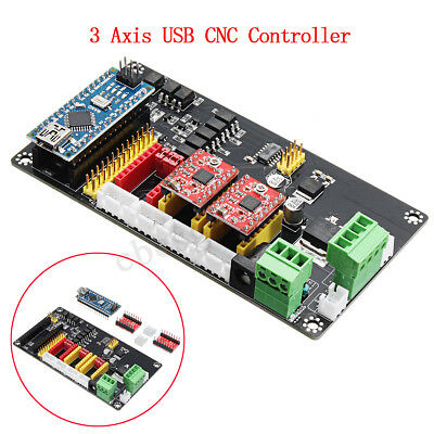 3 Axis CNC Controller Stepper Motor Driver Board For DIY Laser Engraving